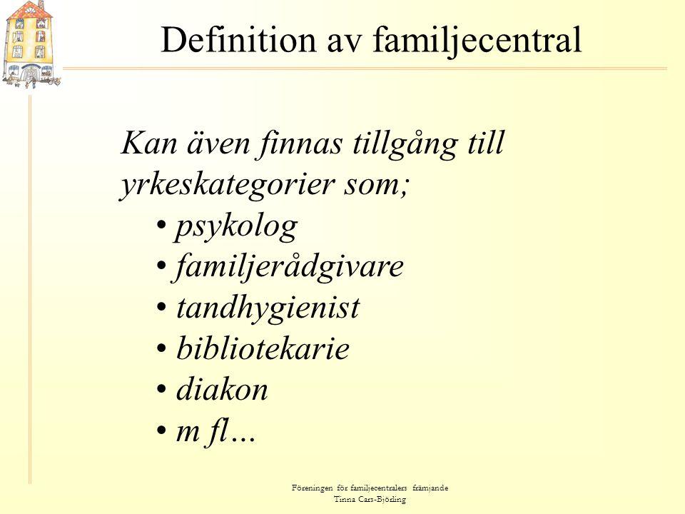 Definition av familjecentral