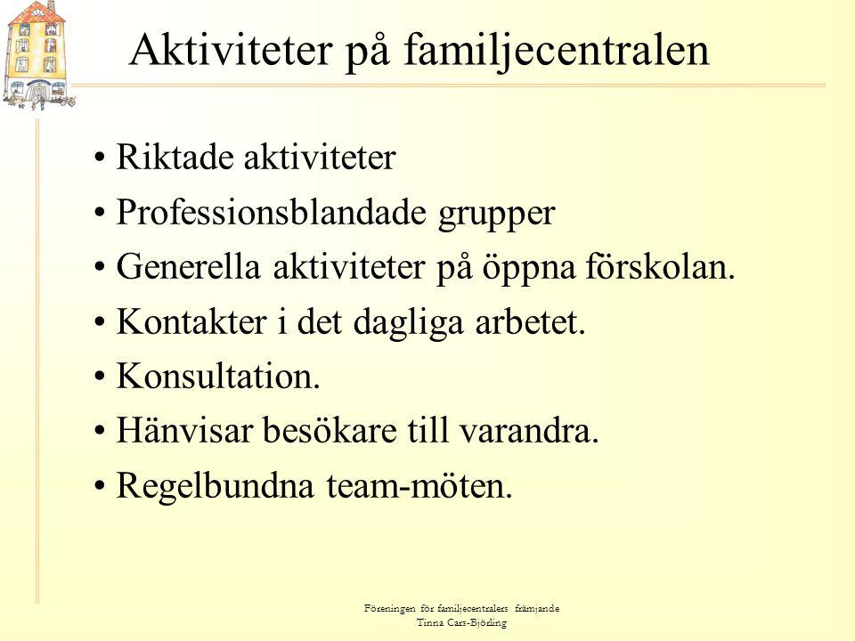 Aktiviteter på familjecentralen