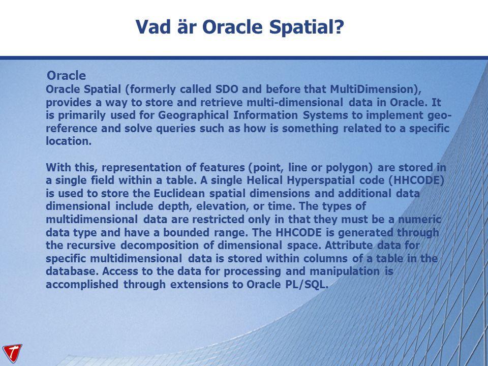 Vad är Oracle Spatial