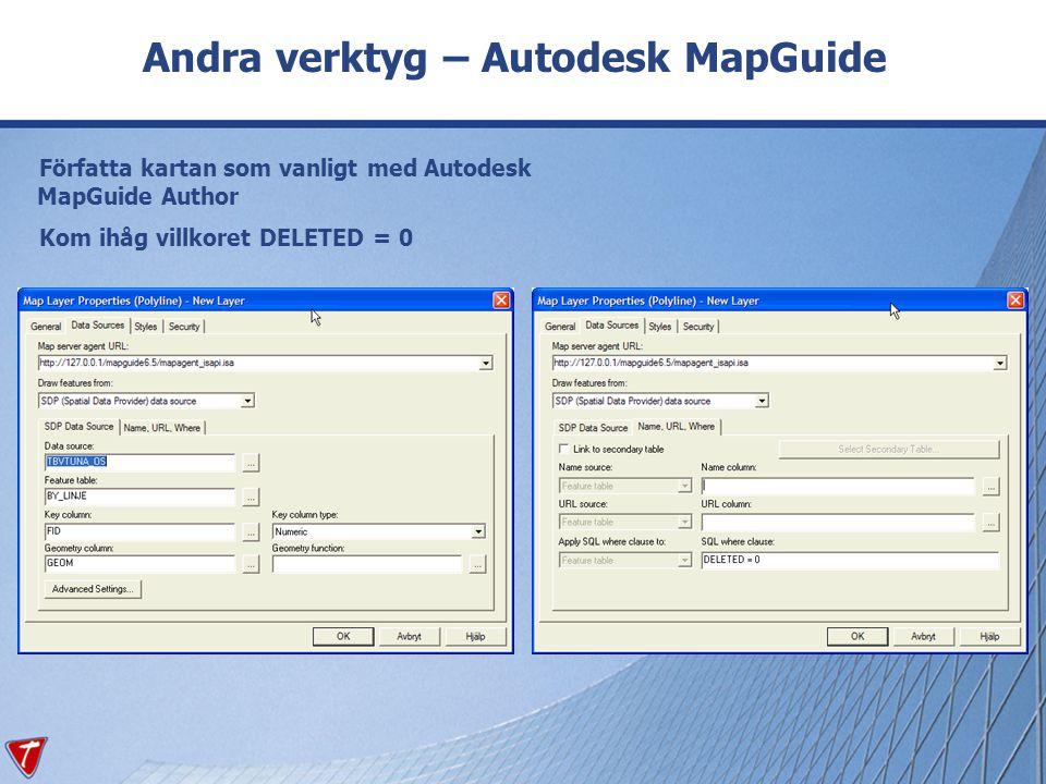 Andra verktyg – Autodesk MapGuide