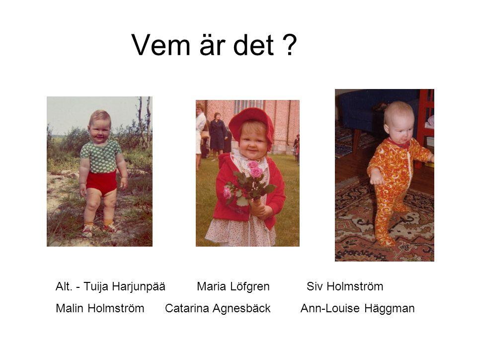 Vem är det Alt. - Tuija Harjunpää Maria Löfgren Siv Holmström