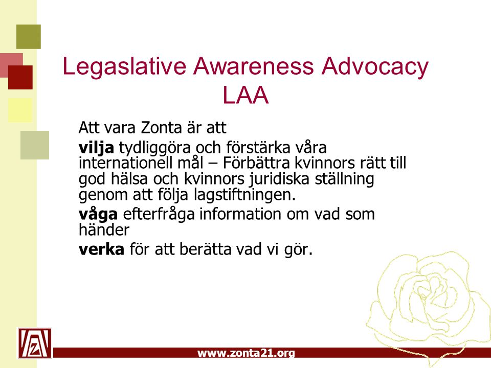 Legaslative Awareness Advocacy LAA