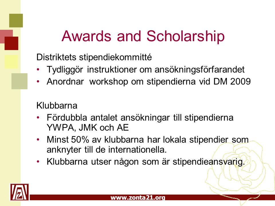 Awards and Scholarship