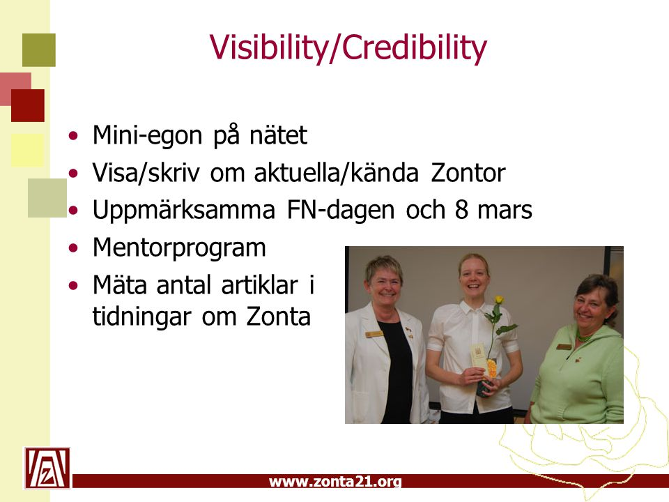Visibility/Credibility