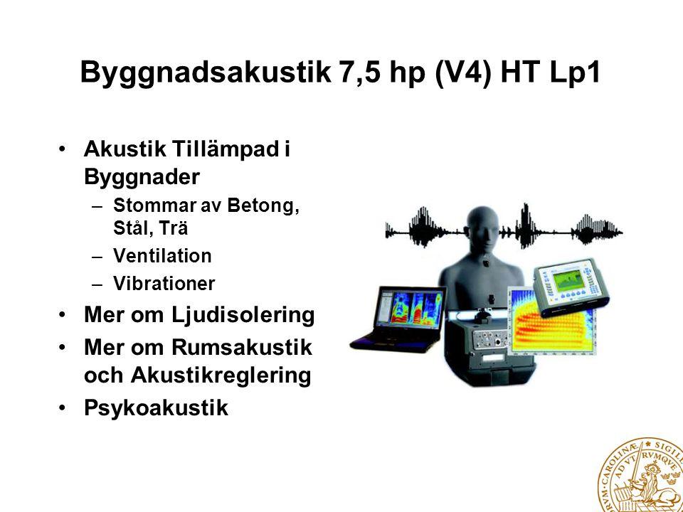 Byggnadsakustik 7,5 hp (V4) HT Lp1