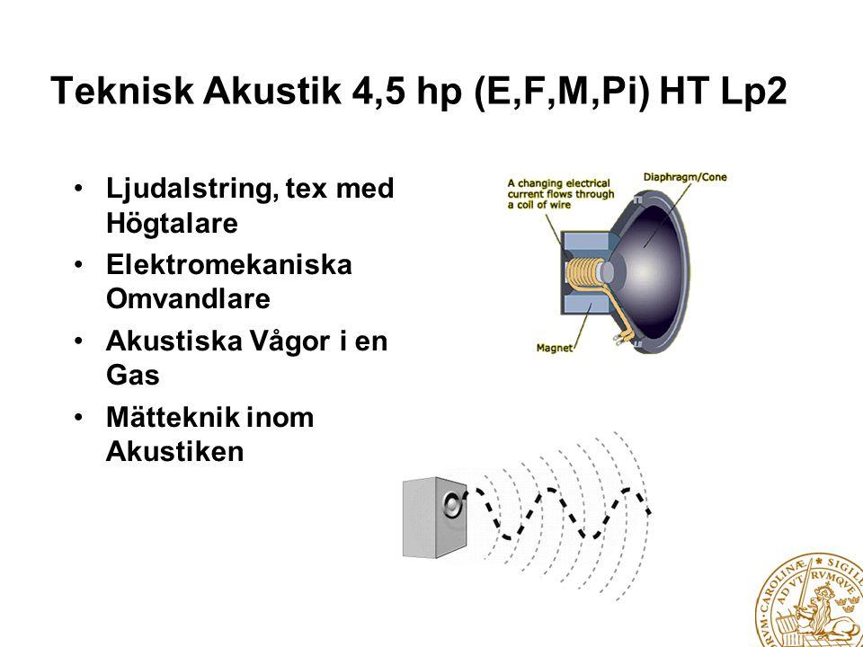 Teknisk Akustik 4,5 hp (E,F,M,Pi) HT Lp2