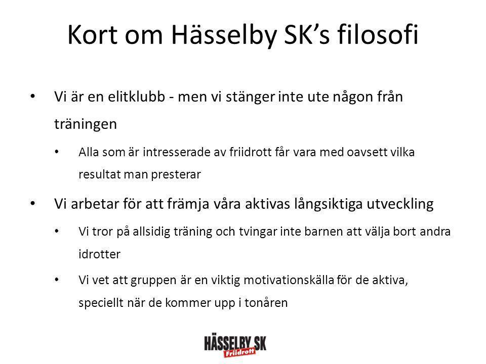 Kort om Hässelby SK's filosofi