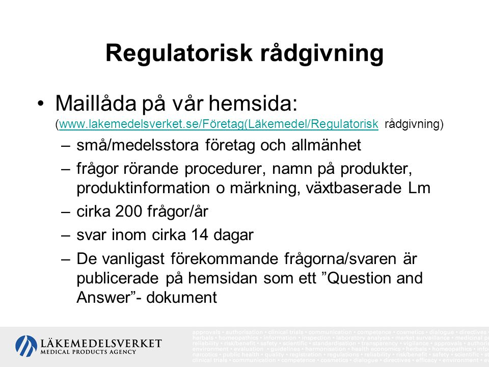 Regulatorisk rådgivning