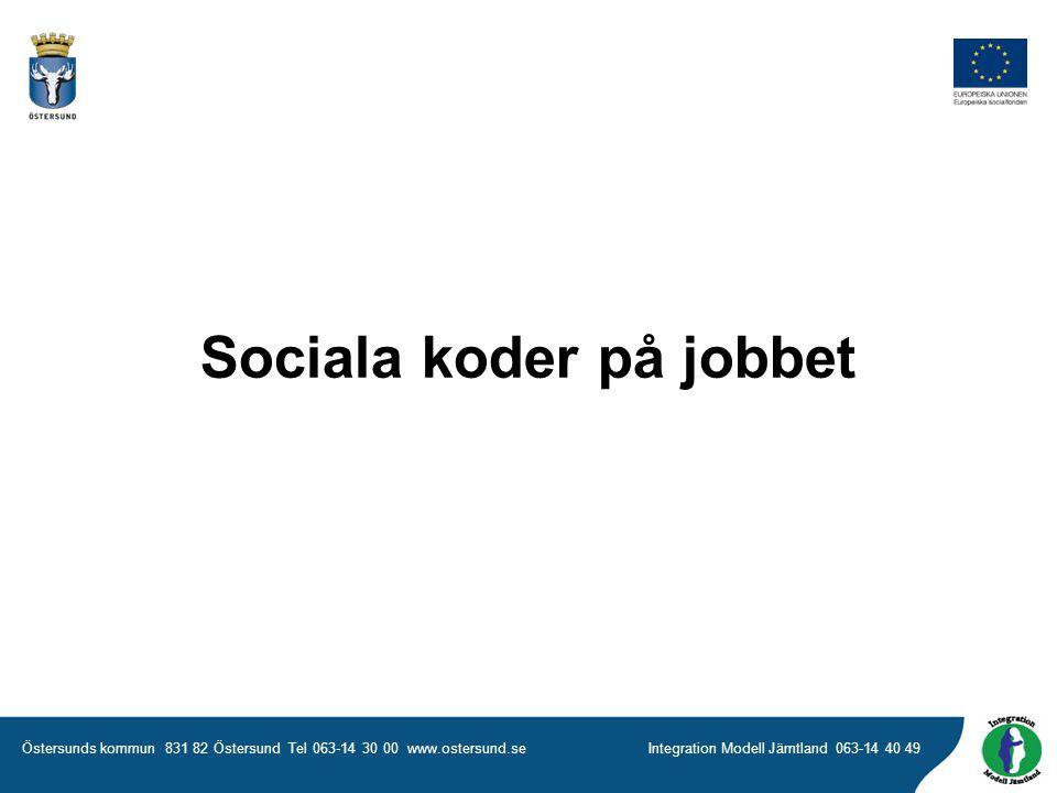 Sociala koder på jobbet