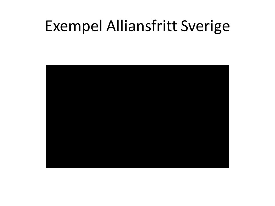 Exempel Alliansfritt Sverige