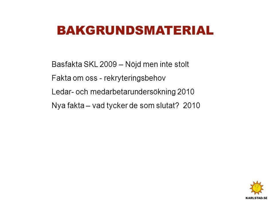 BAKGRUNDSMATERIAL Basfakta SKL 2009 – Nöjd men inte stolt
