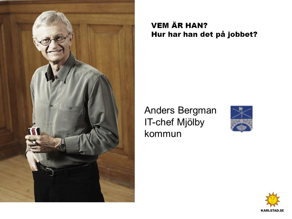Anders Bergman IT-chef Mjölby kommun