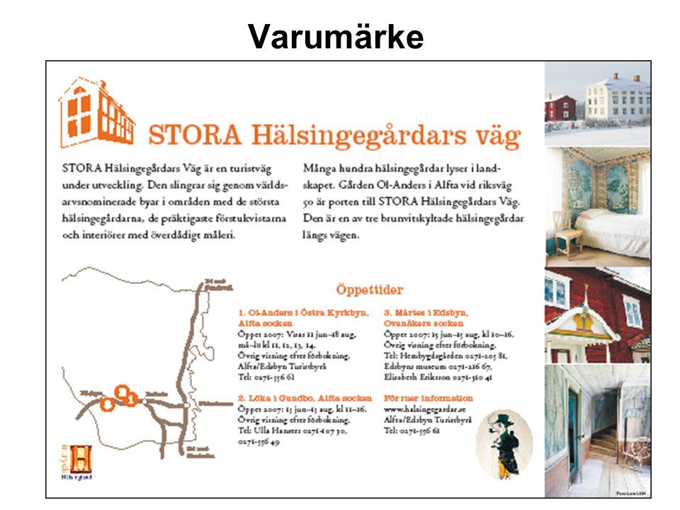 2007-03-08 Varumärke. Skapa en profil och ett varumärke inom helheten Stora Hälsingegårdars Väg Ol-Anders gubben www.VisitOlAnders.se.
