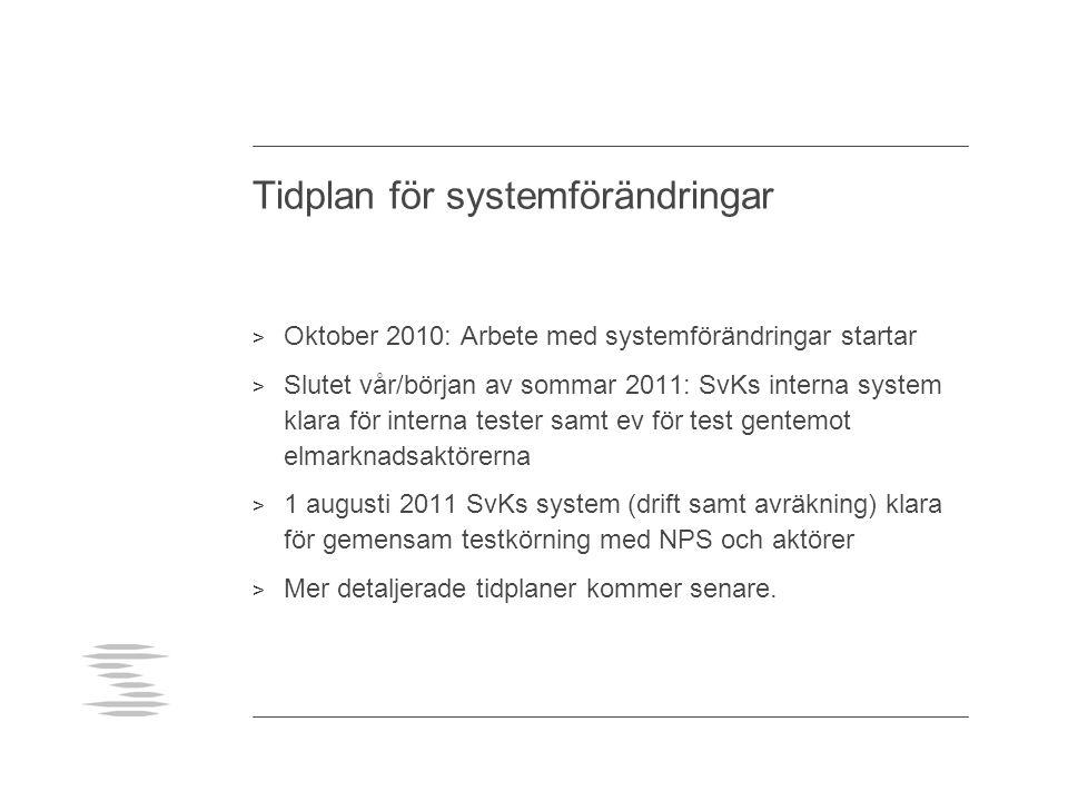 Tidplan för systemförändringar