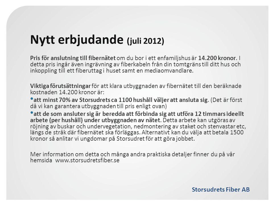 Nytt erbjudande (juli 2012)