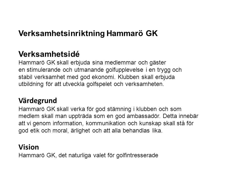 Verksamhetsinriktning Hammarö GK Verksamhetsidé