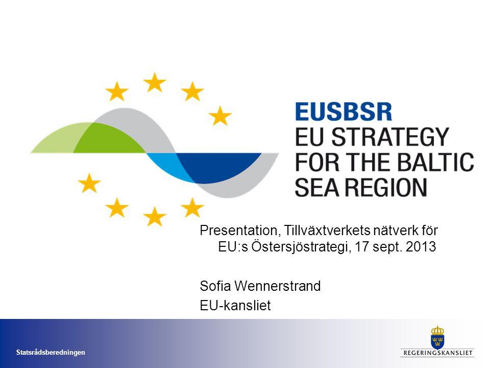 Presentation, Tillväxtverkets nätverk för EU:s Östersjöstrategi, 17 sept. 2013