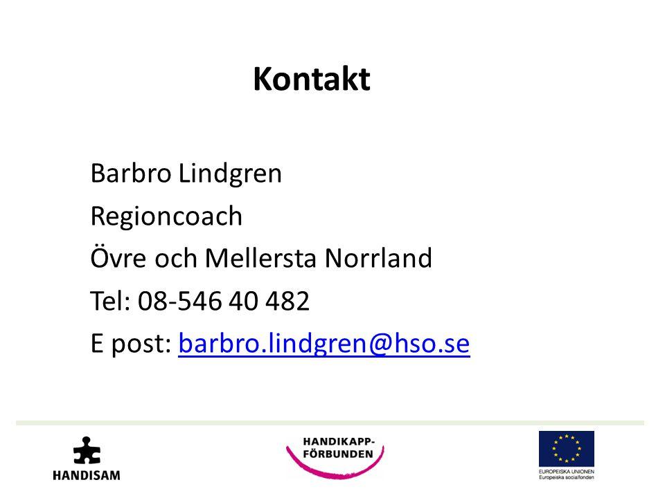 Kontakt Barbro Lindgren Regioncoach Övre och Mellersta Norrland