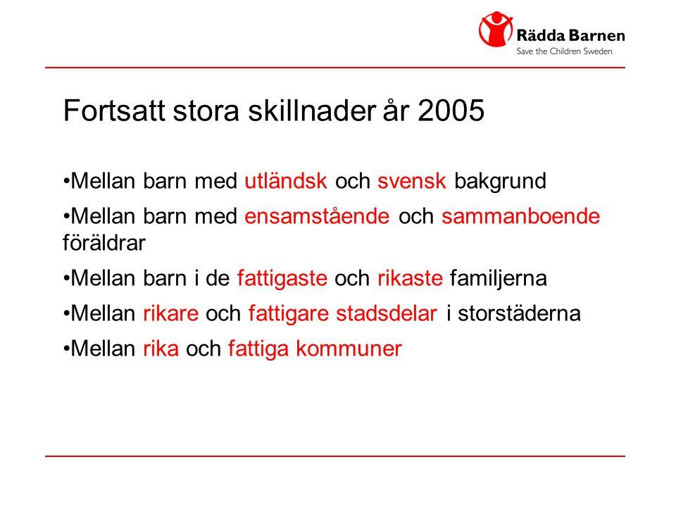 Fortsatt stora skillnader år 2005