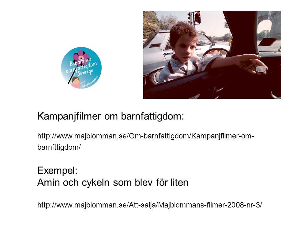 Kampanjfilmer om barnfattigdom:
