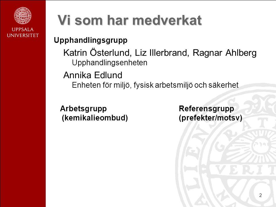 Vi som har medverkat Upphandlingsgrupp. Katrin Österlund, Liz Illerbrand, Ragnar Ahlberg Upphandlingsenheten.