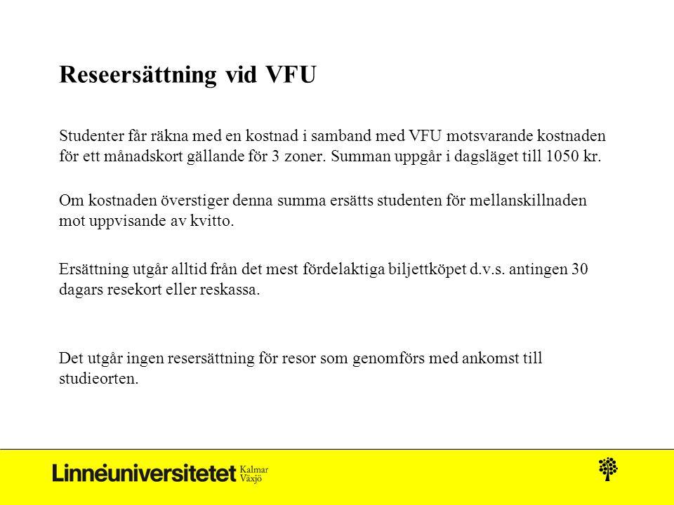 Reseersättning vid VFU