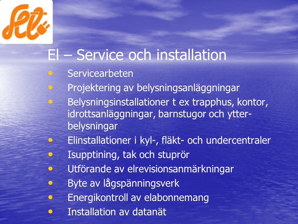 El – Service och installation