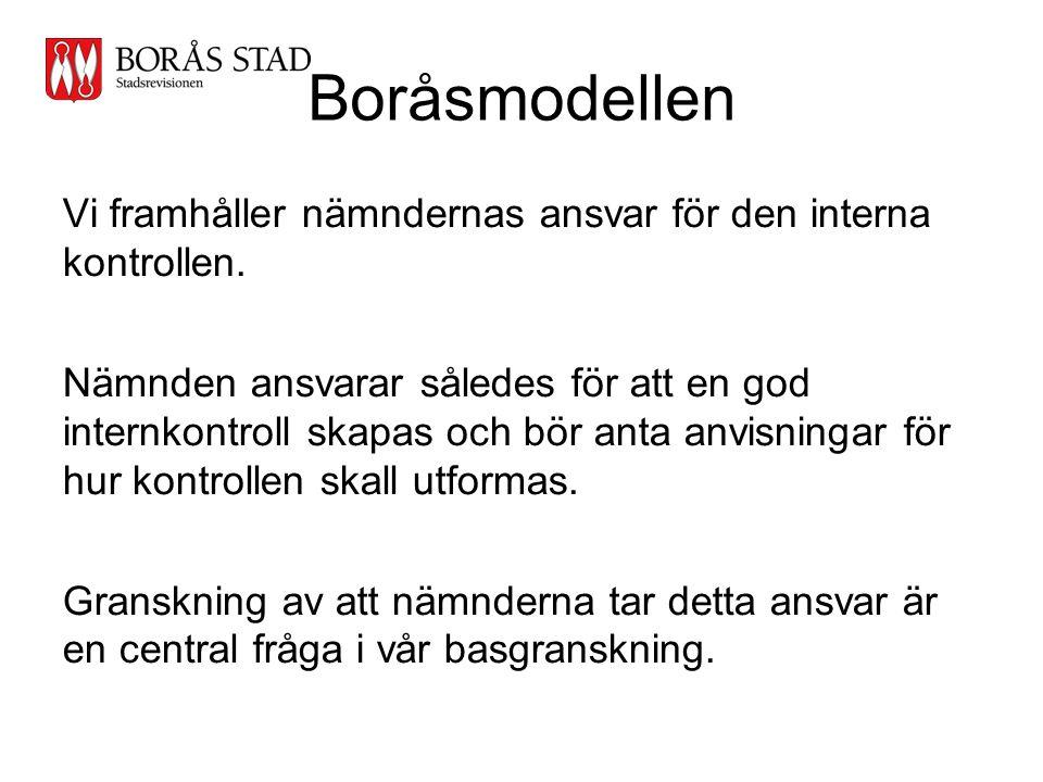 Stadsrevisionen Boråsmodellen. Vi framhåller nämndernas ansvar för den interna kontrollen.