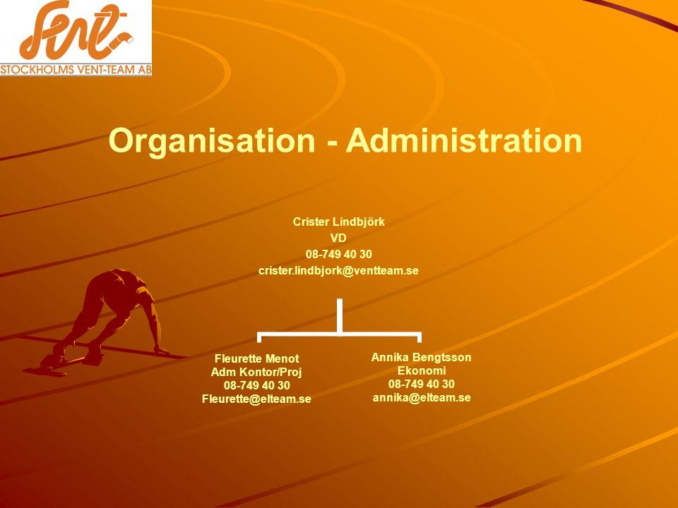 Organisation - Administration