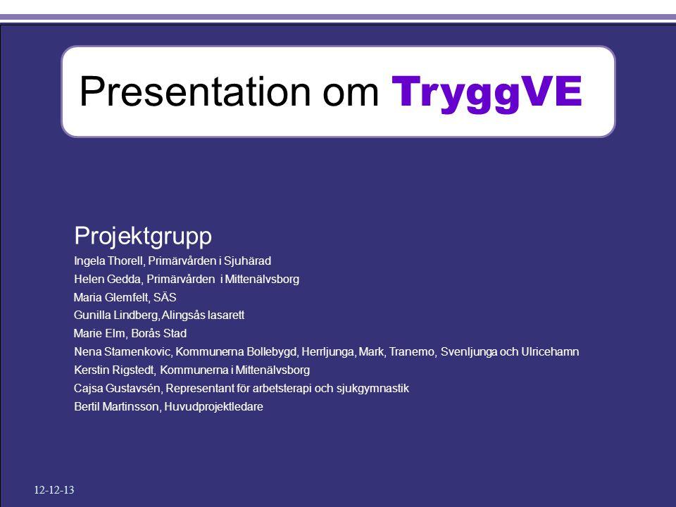 Presentation om TryggVE
