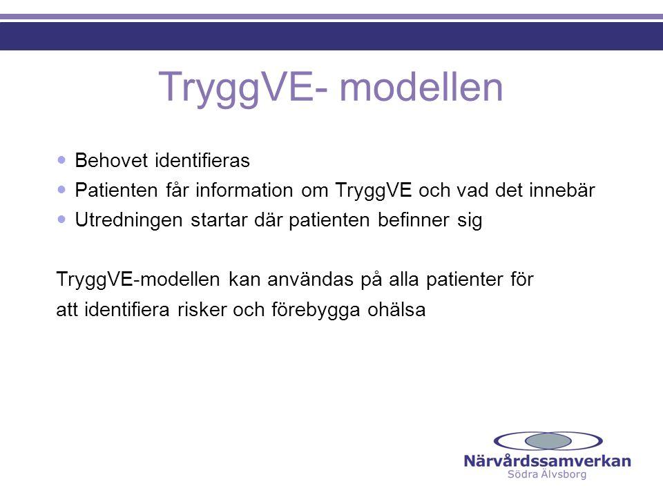 TryggVE- modellen Behovet identifieras