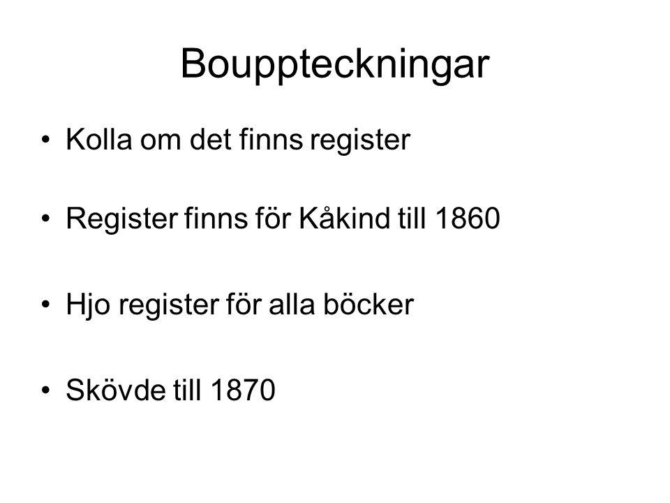 Bouppteckningar Kolla om det finns register