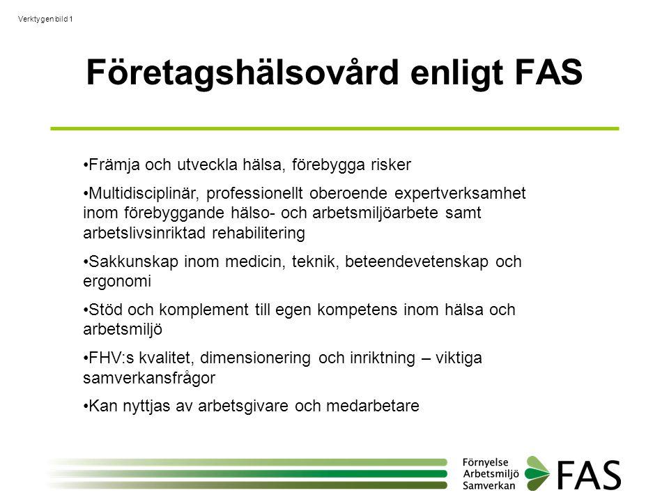 Företagshälsovård enligt FAS