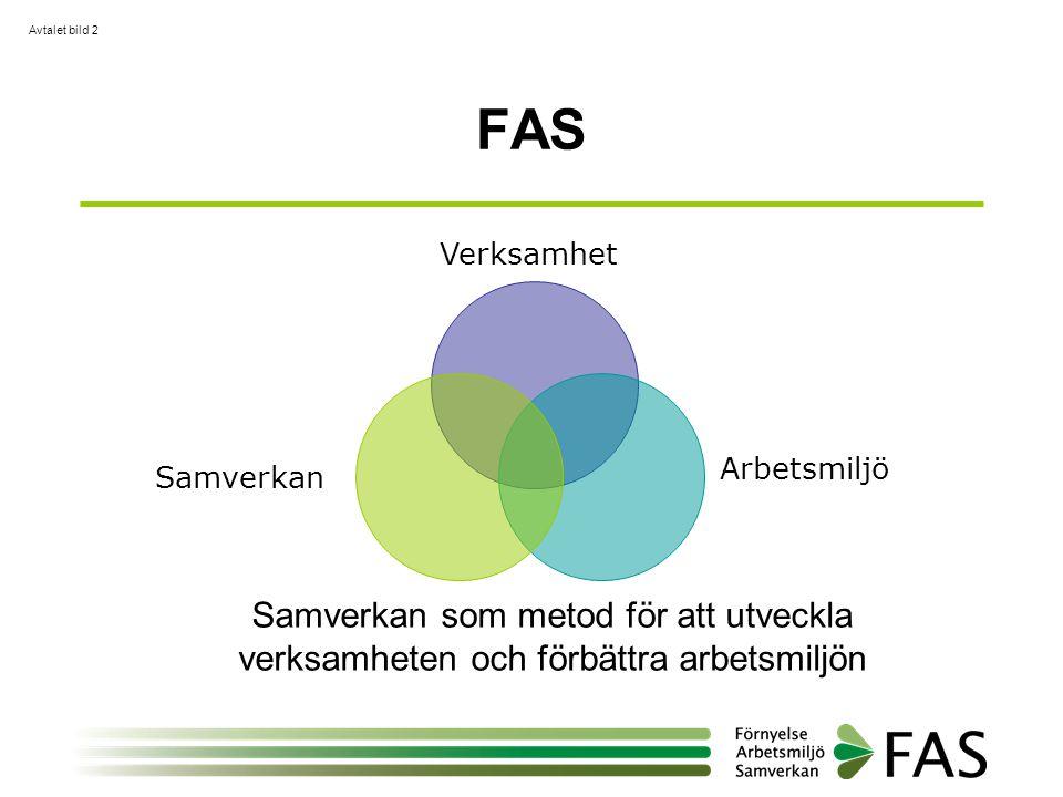 Avtalet bild 2 FAS. Verksamhet. Samverkan. Arbetsmiljö.