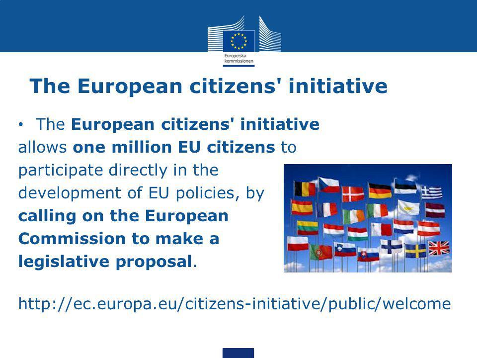 The European citizens initiative