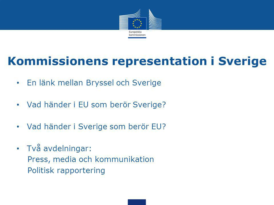 Kommissionens representation i Sverige