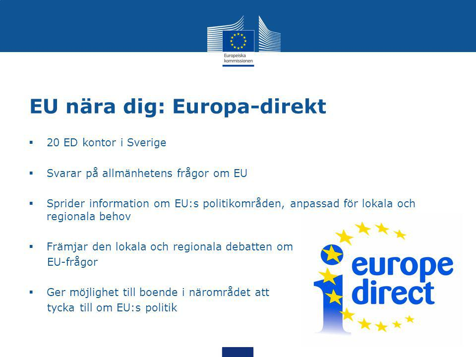 EU nära dig: Europa-direkt