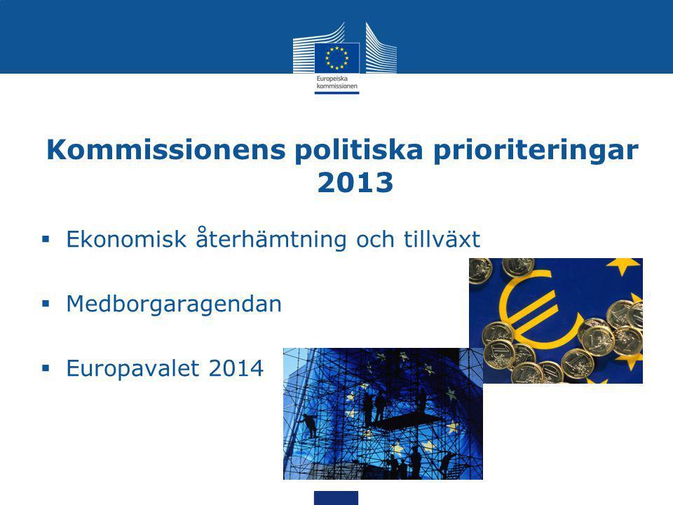 Kommissionens politiska prioriteringar 2013