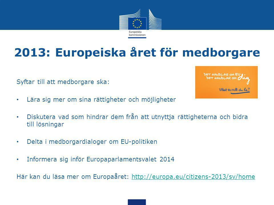 2013: Europeiska året för medborgare