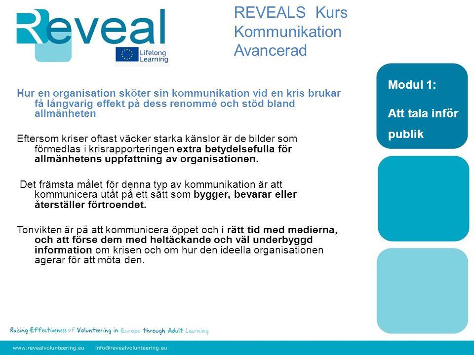 REVEALS Kurs Kommunikation Avancerad Modul 1: Att tala inför publik