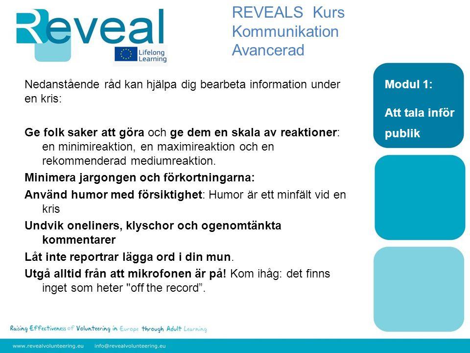 REVEALS Kurs Kommunikation Avancerad