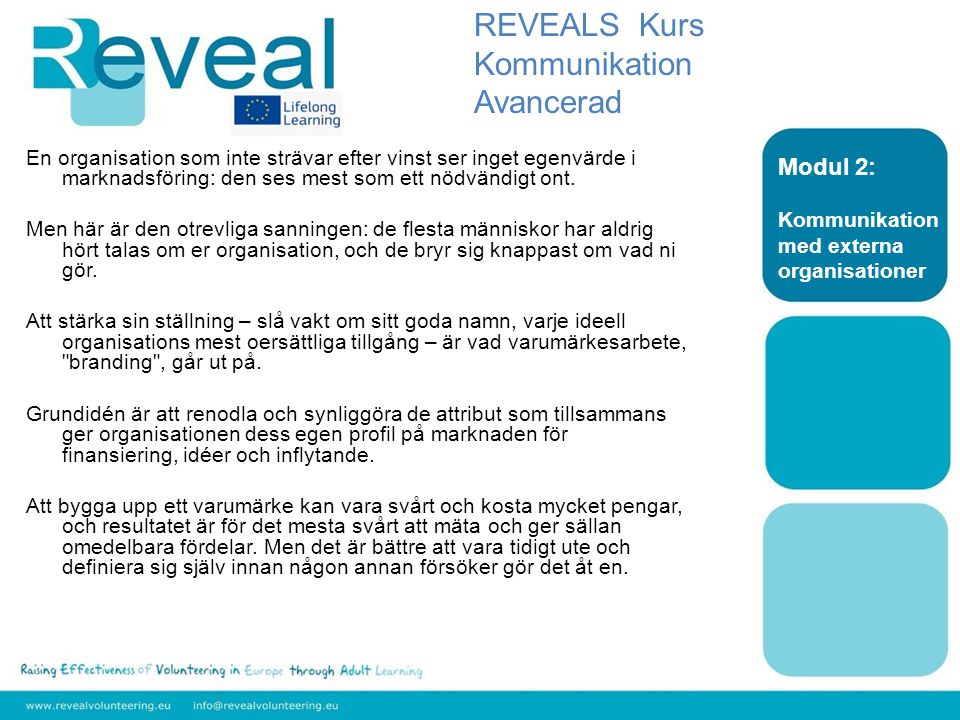 REVEALS Kurs Kommunikation Avancerad Modul 2:
