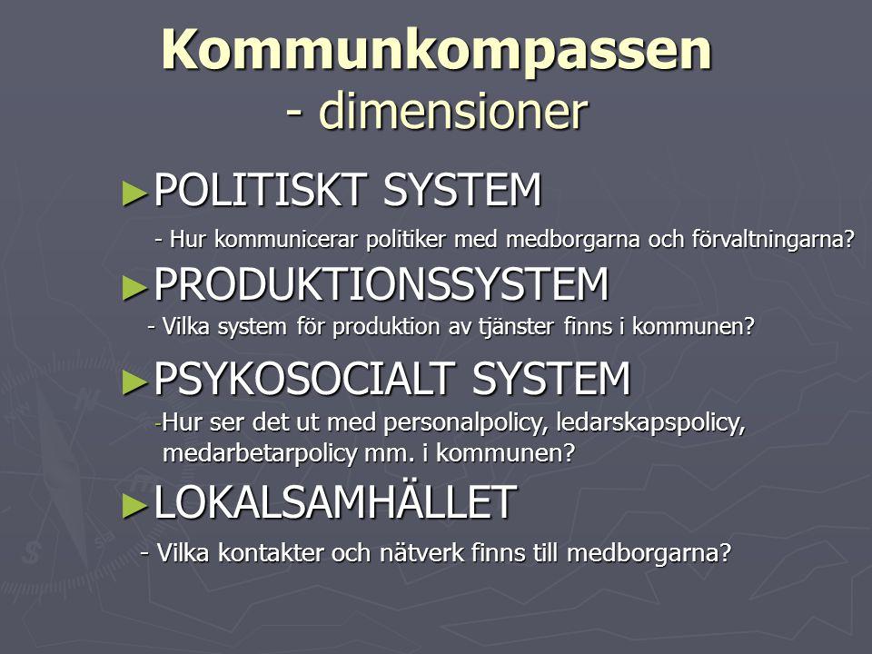 Kommunkompassen - dimensioner