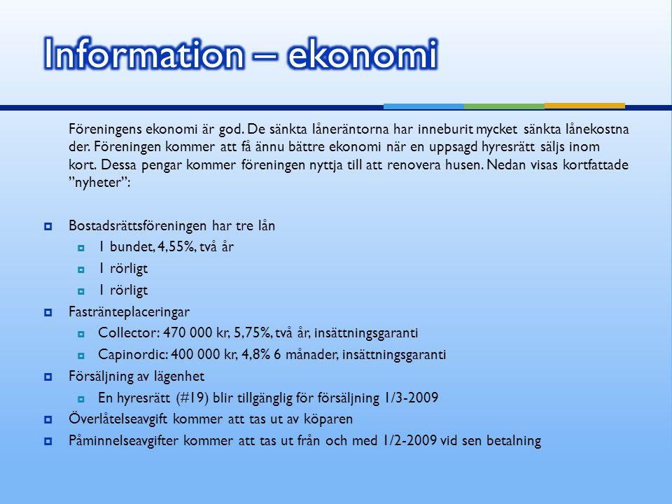 Information – ekonomi