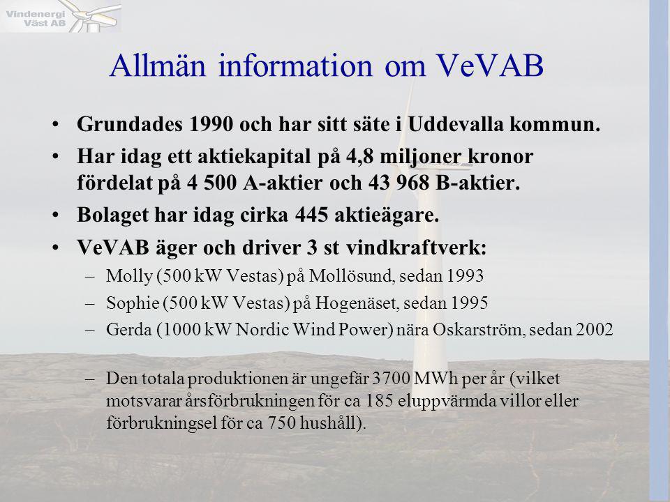 Allmän information om VeVAB
