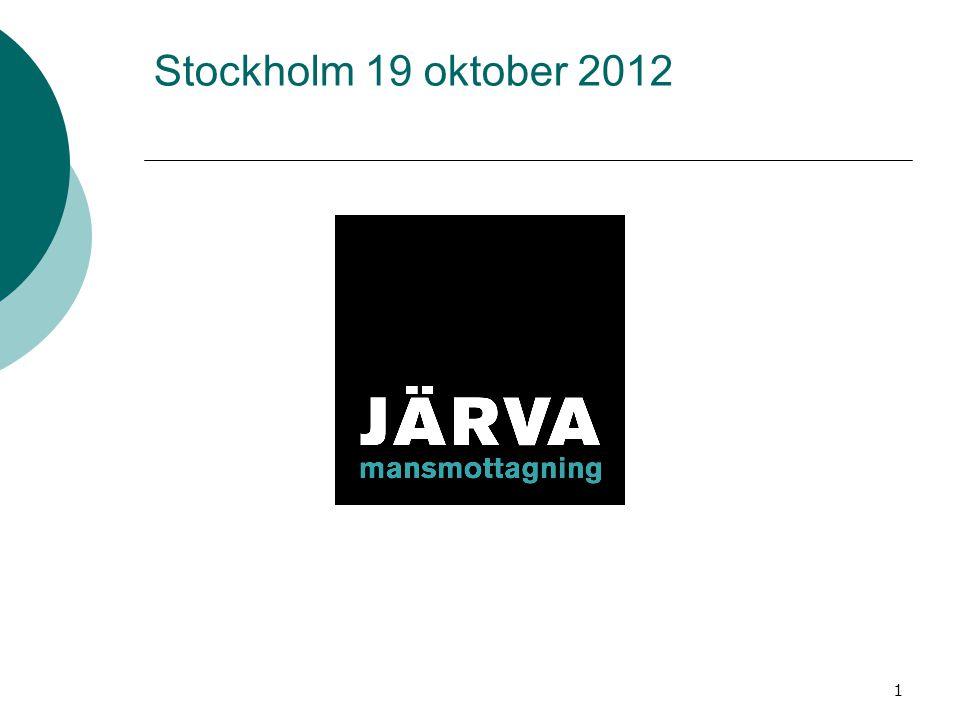 Stockholm 19 oktober 2012