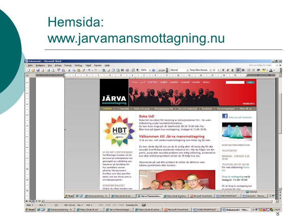 Hemsida: www.jarvamansmottagning.nu