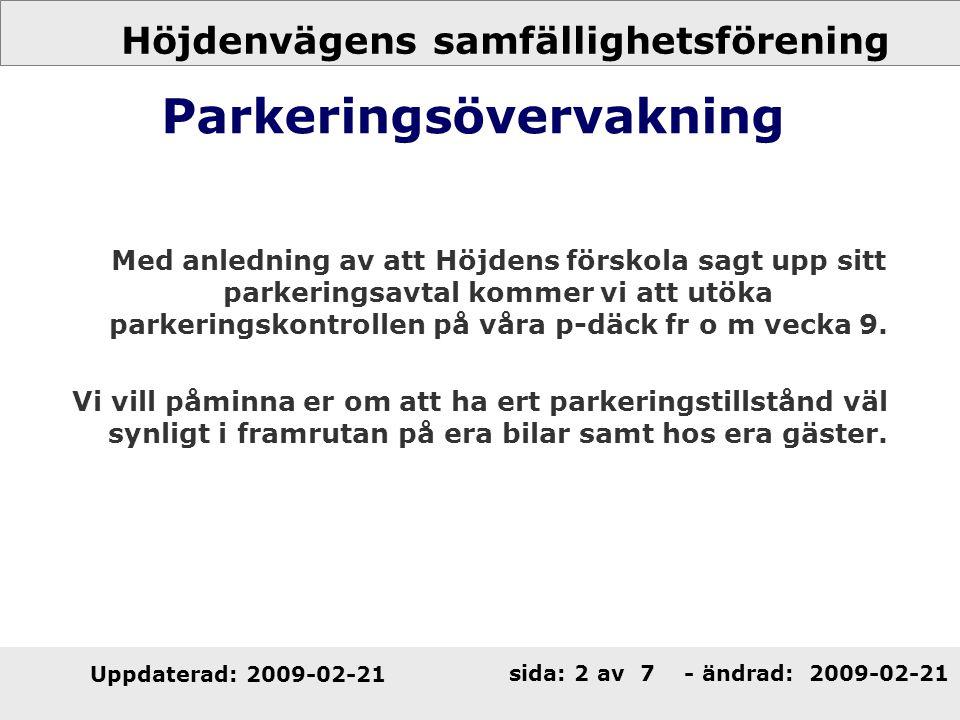 Parkeringsövervakning