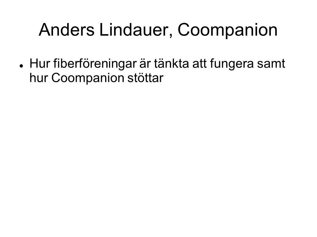 Anders Lindauer, Coompanion