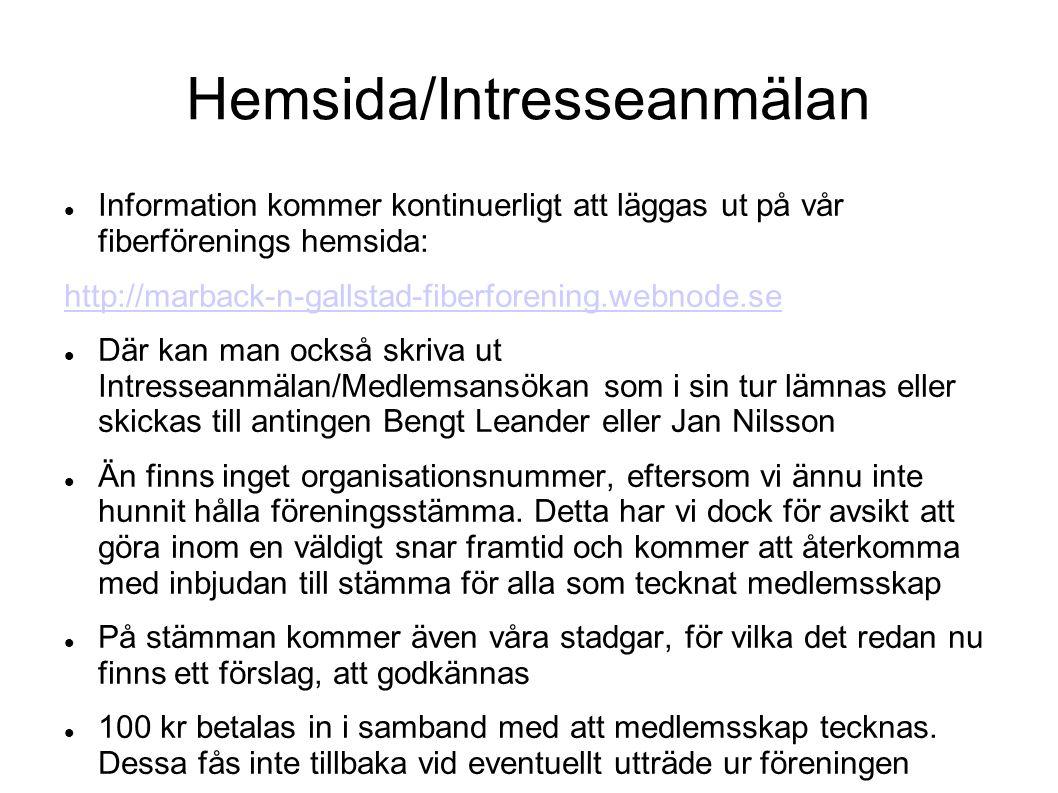 Hemsida/Intresseanmälan